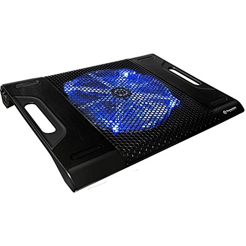"Thermaltake Massive 23 LX Steel Mesh Panel Single Oversized 230mm Blue LED Fan Portable 10""-17"" Laptop Notebook Cooling Pad CLN0015"