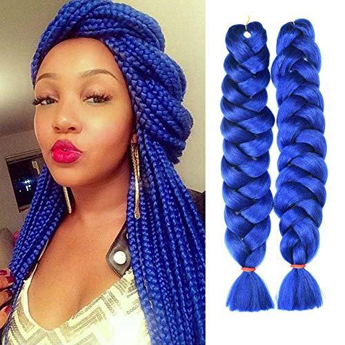 HVAXING 82 inch Ombre Jumbo Braiding Hair Extensions 2Pcs/Lot 165g/pcs High Temperature Kanekalon Fiber Crochet Twist Braids -