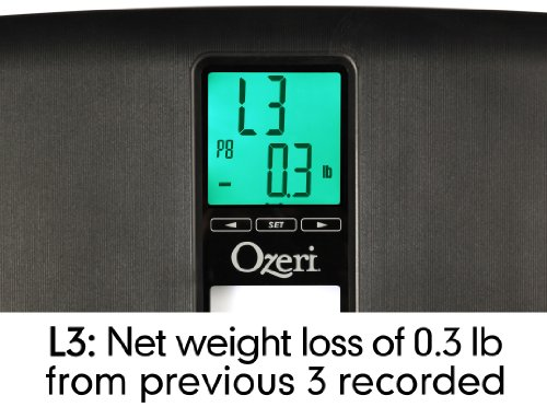 Ozeri ZB20 440 lbs Scale Weight Detection, Black