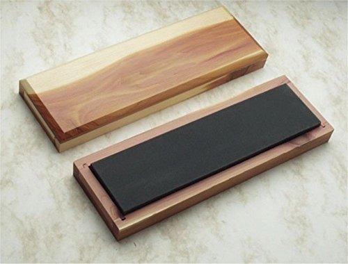"RH Preyda Surgical Black Arkansas Bench Stone, Ultra Fine Grit 1200+, 4 x 2 x 0.5"""