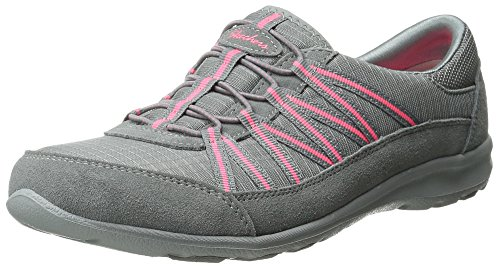 Skechers Sport Women's Dreamchaser Romantic Trail Fashion Sneaker, Grey/Pink,  8.5 M US