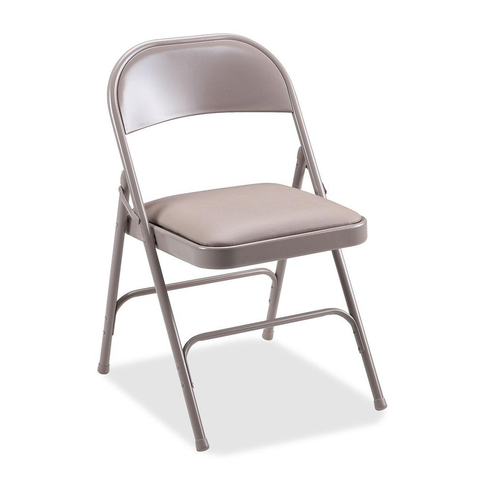 Good Amazon.com: Lorell 4 Carton Folding Chairs, Padded Seat, 19 3/8 By 18 1/4  By 29 5/8 Inch, Beige: Kitchen U0026 Dining