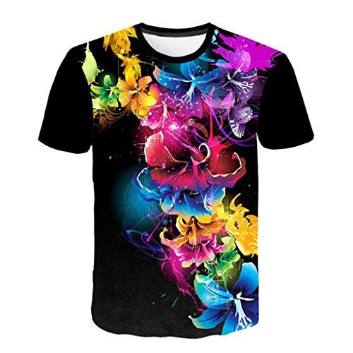 Flood Homme Courtes Blouse Black Imprimé Shirt Mode shirt Tee T Hommes 3d Manches Top rrf8Xg