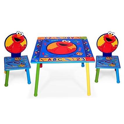 Amazon com: Sesame Street Kids Furniture Collection - 123 Elmo Table