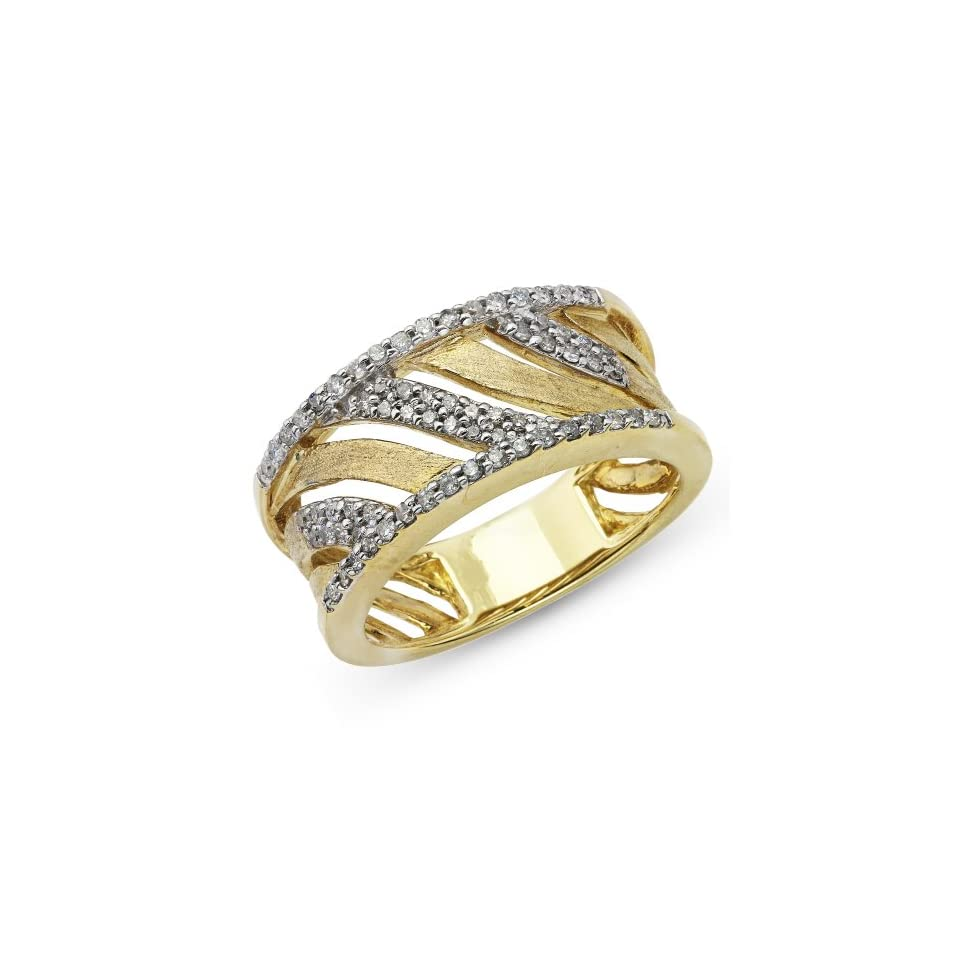 10k Two Tone Gold Diamond Ring 1/3ctw