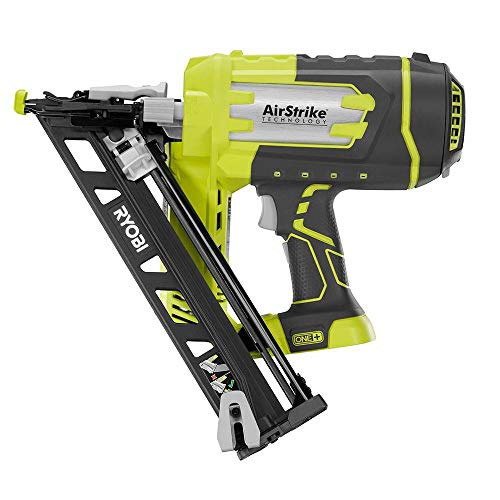Ryobi ZRP330 ONE+ 18V Lithium-Ion AirStrike 15-Gauge Angled Finish Nailer (Bare Tool) (Renewed) 18v Angled Finish Nailer