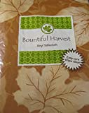 Bountiful Harvest Flannel Back Vinyl Tablecloth ''Cinnamon Leaves'' By Elrene- Assorted Sizes up to 120 Inches. Oblong and Round (52 x 120 Oblong)