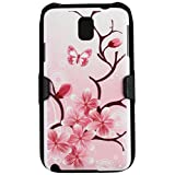 Beyond Cell 3-In-1 Kombo Case with Holster and Screen Protector for Samsung Galaxy Note 3 - Non-Retail Packaging - Cherry Blossom