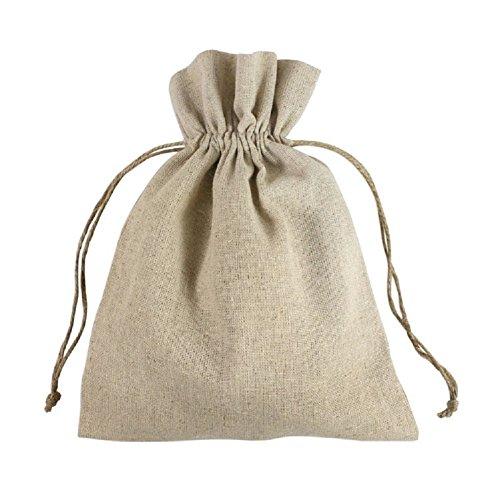 Linen Favor Bags Hemp Drawstring Cord Rustic Wedding Favor P