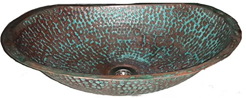 Hammered Copper Bathroom Sink - 2