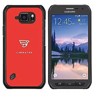 LECELL--Funda protectora / Cubierta / Piel For Samsung Galaxy S6Active Active G890A -- rojo liberada --