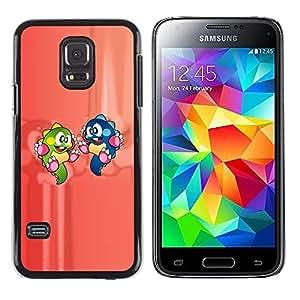 Paccase / Dura PC Caso Funda Carcasa de Protección para - Cartoon Characters Dinosaur Colorful Green Blue - Samsung Galaxy S5 Mini, SM-G800, NOT S5 REGULAR!