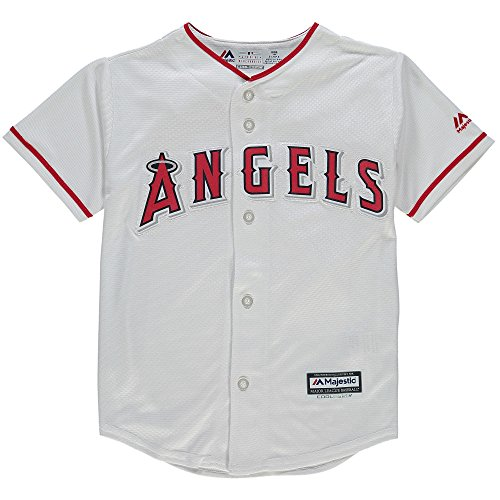 Outerstuff Mike Trout Los Angeles Angels Kids 4-7 Cool Base Home Jersey (Large 7)