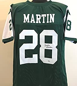 Curtis Martin Autographed Custom Green Jersey - New York Jets Legendary Running Back