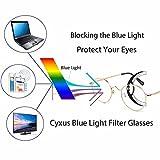 Cyxus Blue Light Blocking Computer Glasses [Better Sleep] Anti Digital Eye Strain Headache Video Eyewear (gold)