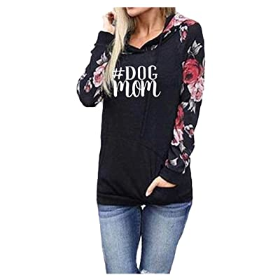 ✶ HebeTop ✶ Women's Floral Printed Long Sleeve Pullover Hoodies Sweatshirt with Pocket: Garden & Outdoor