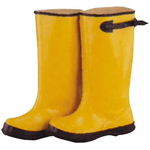 RB001-15-C Adjustable Cuff Waterproof Over Shoe Boot 15 in Unisex Yellow