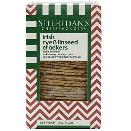 Irish Rye & Linseed Crackers - 5 oz by Sheridans