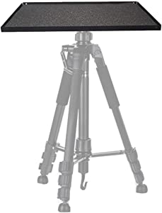 """Projector Tray, 11x15in Laptop Tray Platform Holder Pallet for 3/8"""" or 1/4"""" Screw Tripod Stand Mount Widely Use in Meeting Rooms,Studio, Outdoor, Classrooms, Stage"""