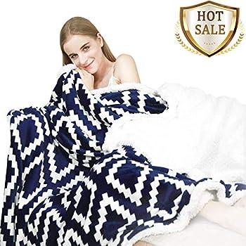 YUUHUM Ultra Soft Sherpa Fleece Throw Blanket Couch Sofa Plush Fuzzy Blanket (Throw 50