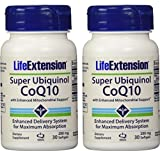Life Extension Super Ubiquinol CoQ10 with Enhanced Mitochondrial Support, 200 mg, 30 softgels (2 Pack)