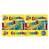 Tin 12 Half Length Children Kids Mini Colouring Pencils