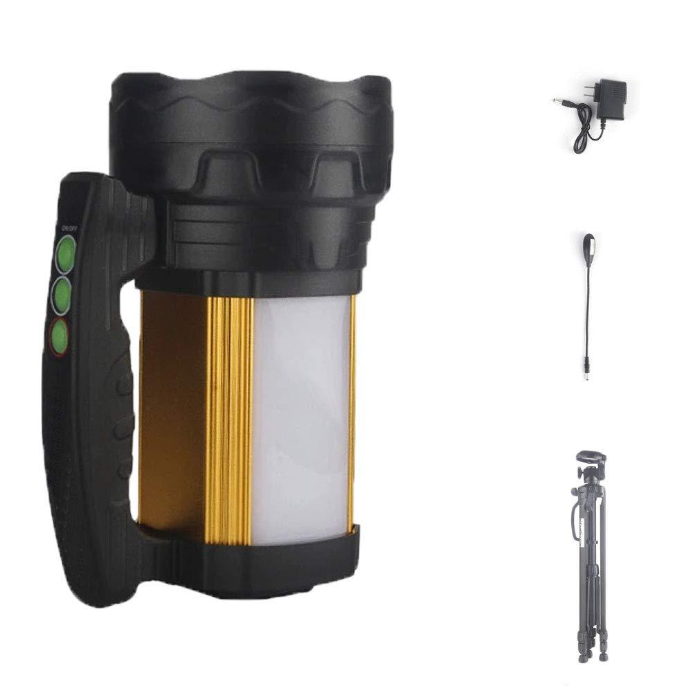 YYBT LED-Suchscheinwerfer, Taschenlampe 21000mah Blendlampe Blendlampe Blendlampe USB-Ladeaufladung mit mobilem Power-Fischer-Set, Laterne + Ladegerät + Angelbadelicht + 1,5 m große Halterung e317a6