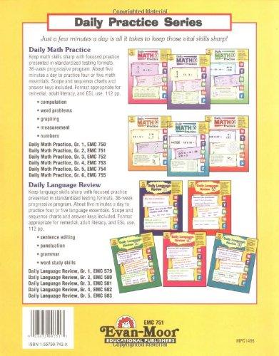 Amazon.com: Daily Math Practice, Grade 2 (9781557997425): Evan ...