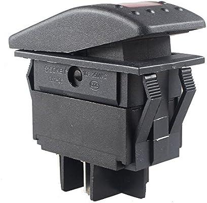 Qiorange Auto Rocker Switch 5 Pcs Red On//Off LED Toggle Switch Dash 4Pin For Car Marine Boat ATV RV LED Light Bar Off Road