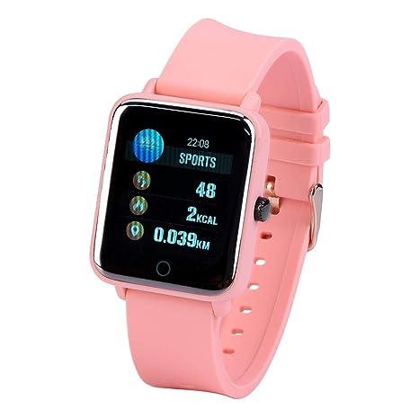 Eboxer Reloj Inteligente Bluetooth,Fitness Traker con Presión Arterial y Monitorización del Ritmo Cardíaco y