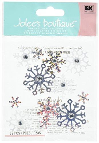 Jolee's Boutique Ek50-20484 Jolees Boutique Sticker 3D Snowflakes Repeat, small, Multicolor (Jolees Snowflakes Boutique)