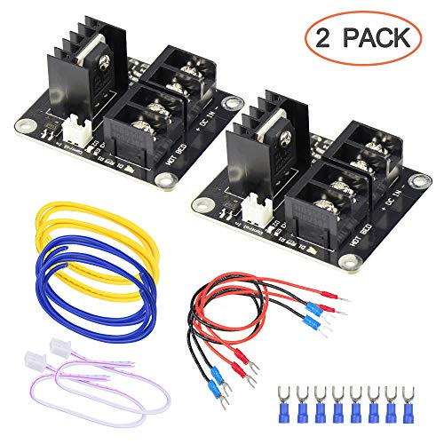 (3D Printer Heat Bed Power Module SIMPZIA General Add-on Hot Bed Mosfet MOS Tube High Current Load Module for 3D Printer Hot Bed/Hot End(2 Pack))