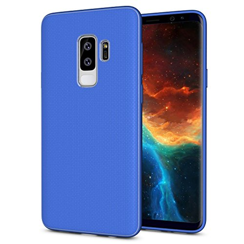 Galaxy S9 Plus Case, OEAGO [Ultra-Thin] [Anti Slip] Flexible TPU Bumper Soft Rubber Slim Silicone Skin Cover with Easy Grip Design for Samsung Galaxy S9+ S 9 Plus (2018) - Blue