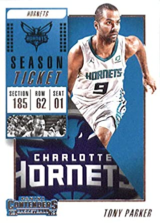 e448df32f024 2018-19 NBA Contenders Season Ticket  14 Tony Parker Charlotte Hornets  Official Basketball Card