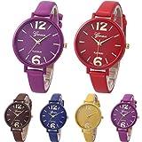 Ikevan Geneva Women Faux Leather Analog Quartz Wrist Watch