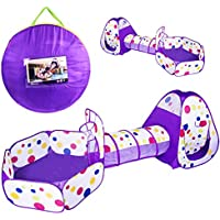 Children's Durable Tent Hide-and-Seek with Crawl Tunnel,...
