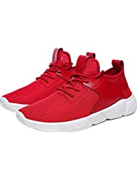 JACKDAINE Men's Sports Breathable Flying Weave Mesh Wear-resistant Thick Comfortable Shoes