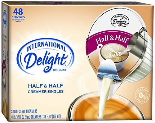 International Delight Singles Coffee Creamer, Half and Ha...