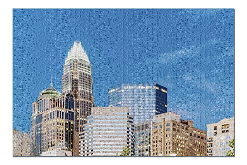 Charlotte, North Carolina - Skyline - Photography A-93912 (20x30 Premium 1000 Piece Jigsaw Puzzle, Made in USA!)