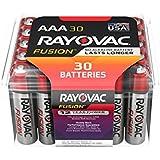 RAYOVAC AAA 30-Pack FUSION Premium Alkaline Batteries, 824-30PPTFUSK