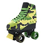 #7: Stemax Quad Roller Skates for Boys - Girls and Women- Outdoor-Indoor. Classic High Cuff with adjustable Lace System for kids size 2.5 Kids – 8.5 Women