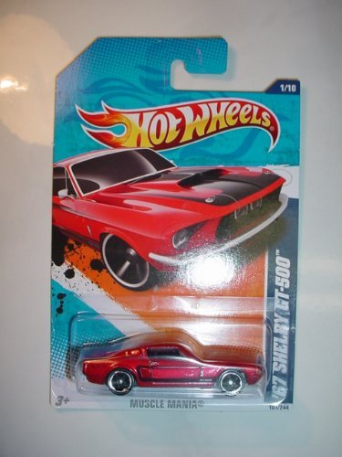HOT WHEELS 2011 MUSCLE MANIA 1/10 RED '67 Ford Mustang Fastback SHELBY GT-500 101/244 by Hot Wheels