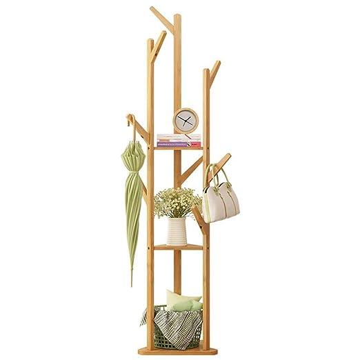 LM-Coat rack Perchero pie Perchero, bambú Perchero De pie 8 ...