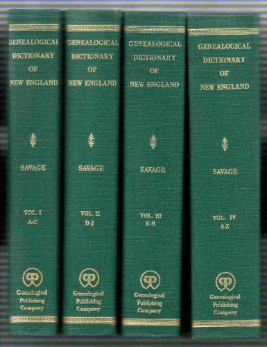 A Genealogical Dictionary of the First Settlers of New England 3rd Edition 4 - 3 Wood Macgregor