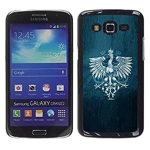 Be Good Phone Accessory // Dura Cáscara cubierta Protectora Caso Carcasa Funda de Protección para Samsung Galaxy Grand 2 SM-G7102 SM-G7105 // Royal Eagle Crest