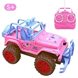 pink motor car - Blooming lilies Pink Remote Control Jeep Truck Car Toys for Toddler Girls 5 Year Old Up,1:20 Scale RC Vehicle Gifts