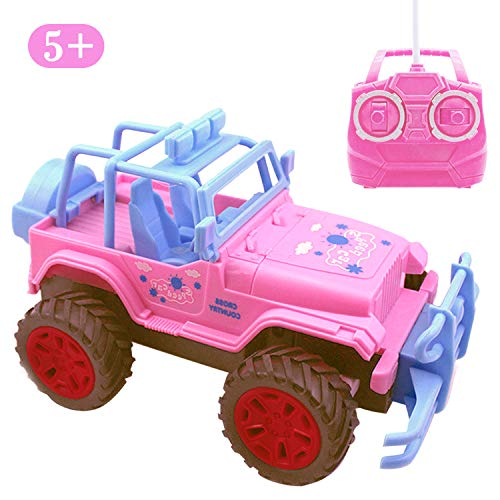 Blooming lilies Pink Remote Control Jeep Truck Car Toys for Toddler Girls 5 Year Old Up,1:20 Scale RC Vehicle Gifts
