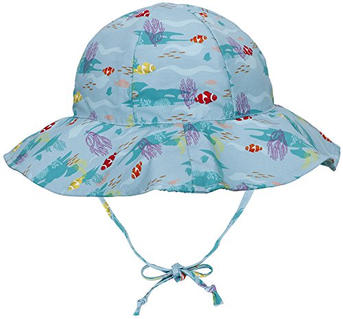 SimpliKids UPF 50+ UV Ray Sun Protection Wide Brim Baby Sun Hat,,Fish,0-12 - Month Sun Safety