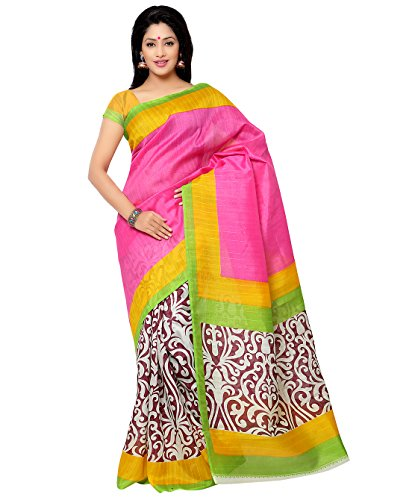Binny Creation Womens Cotton Silk Printed Saree with blouse piece (YPY Print- BC)