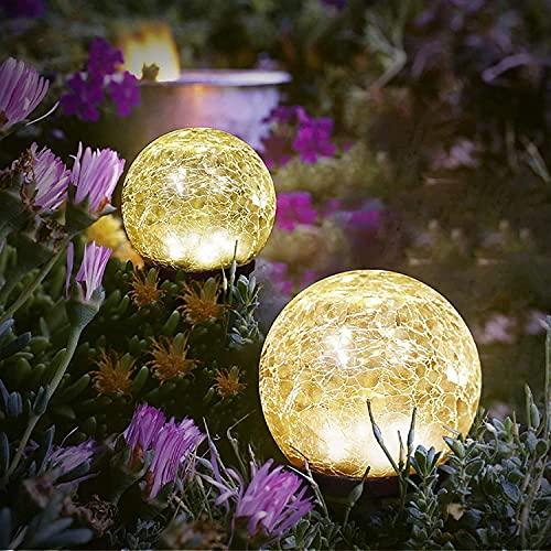 Solar Garden Lights Outdoor Decorative Lights Lawn Yard Garden Decor for Outside Solar Powered Waterproof Globe LED Yard…